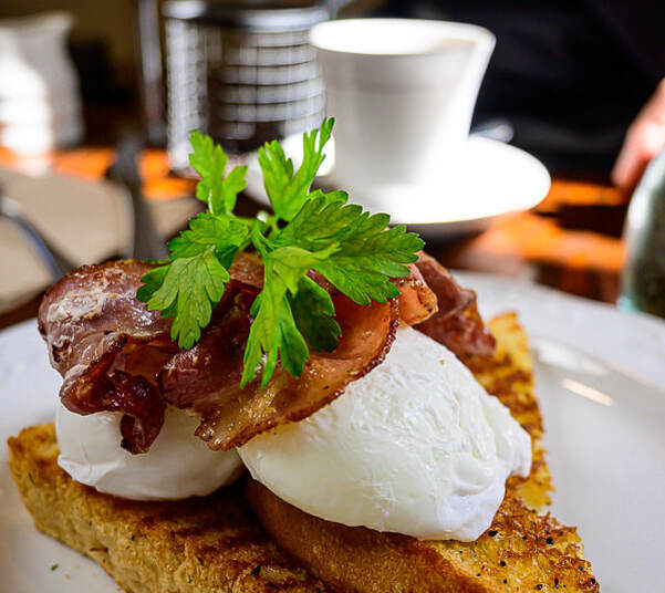 Elevation Cafe Motueka - Bacon & eggs